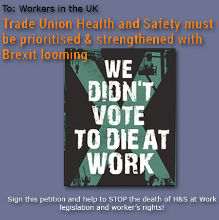 Pic: Petition to TUC to prioritise H&S at work - click the pic to sign