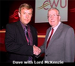 Pic: Dave with Lord McKenzie