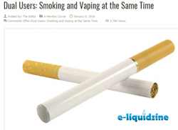 Pic: dual users smoke ecigs AND standard cigarettes