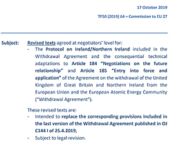 Pic: Revised Withdrawl Agreement text - click to download