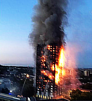 Pic: Grenfell Tower blaze