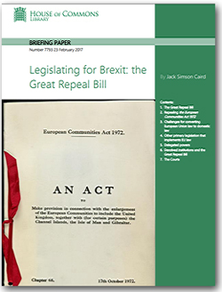 Pic: House of Commons Repeal Bill briefing to MPs