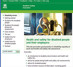 HSE Disbaility Pages accessible here