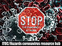 Pic: click to go to Hazards Campaign Covid Hub