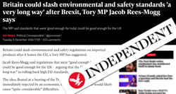 Pic: Independent newspaper headline