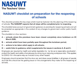 Pic: NASUWT Safety checklist - click to download