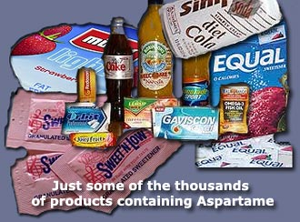 Foodstuffs containing Aspartame