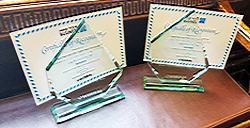 Pic: Road Safety Award certificates