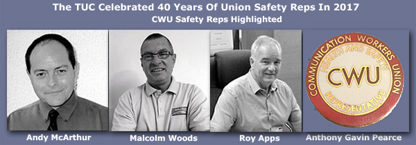 Pic: CWU Safety Reps in TUC 40 years celebration of USRs
